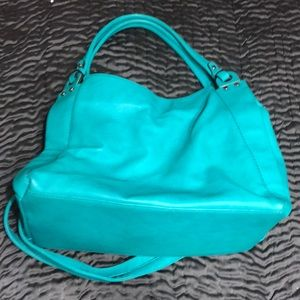Handbags - Turquoise leather tote